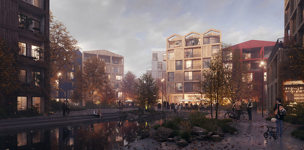 Henning Larsen envisions Fælledby as Copenhagen's first all-timber neighbourhood