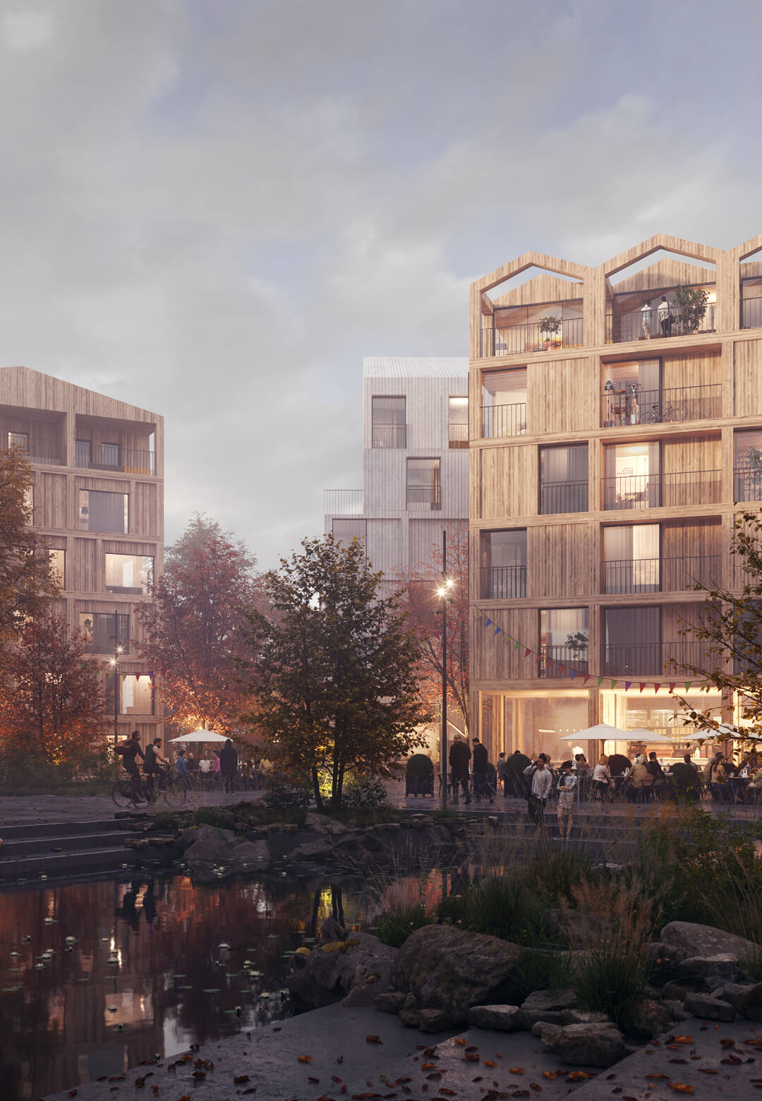 Visualisation of the Fælledby neighbourhood | Fælledby | Henning Larsen | STIRworld