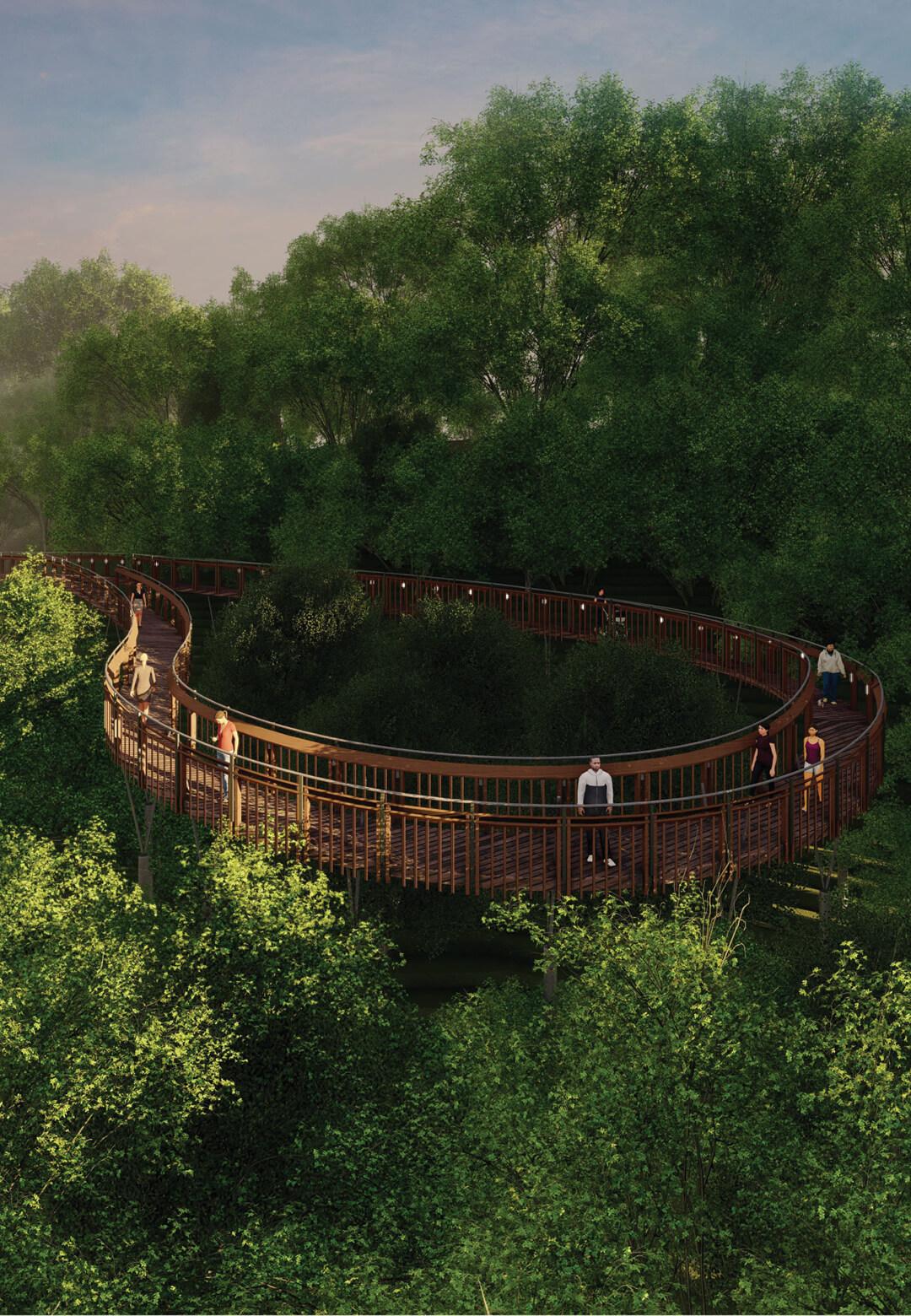 IMK Architects imagine Malabar Hill Forest Trail for the city of Mumbai in India | Malabar Hill Forest Trail by IMK Architects | STIRworld