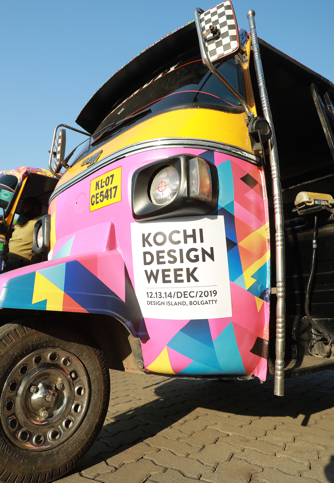 Painted auto rickshaws designed by the students of ISCA for the Kochi Design Week | Kochi Design Week | STIRworld