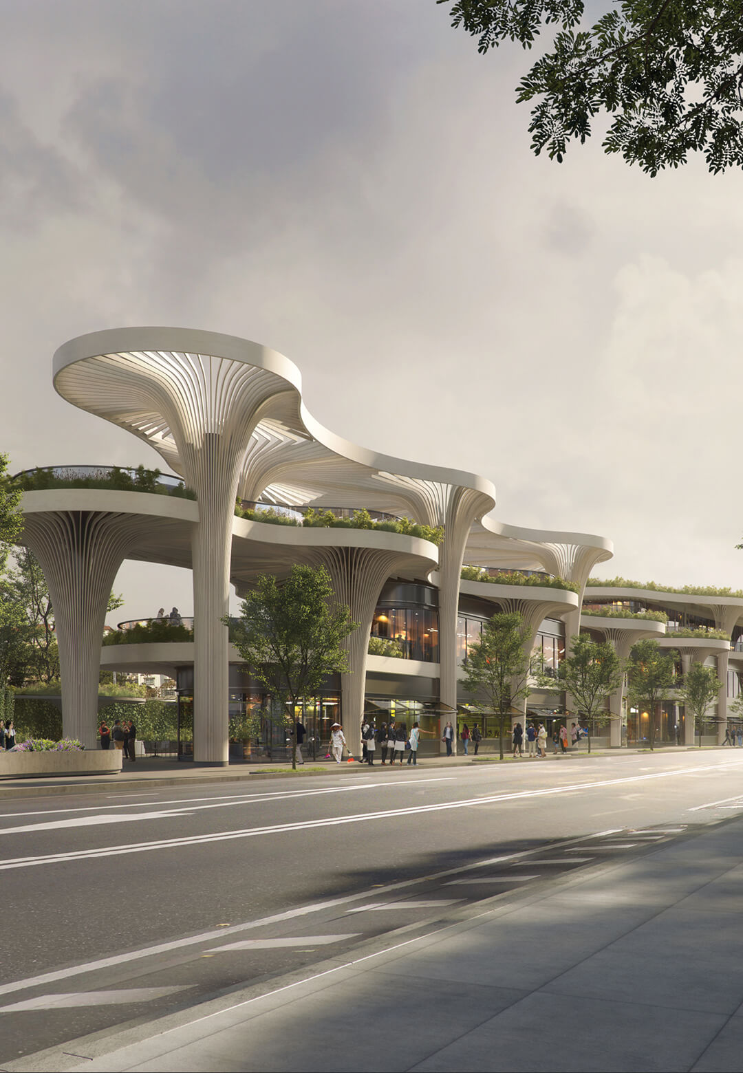 CGI of the Solar Trees Marketplace in Shanghai, China, conceived by Koichi Takada Architects | Solar Trees Marketplace by Koichi Takada Architects | STIRworld