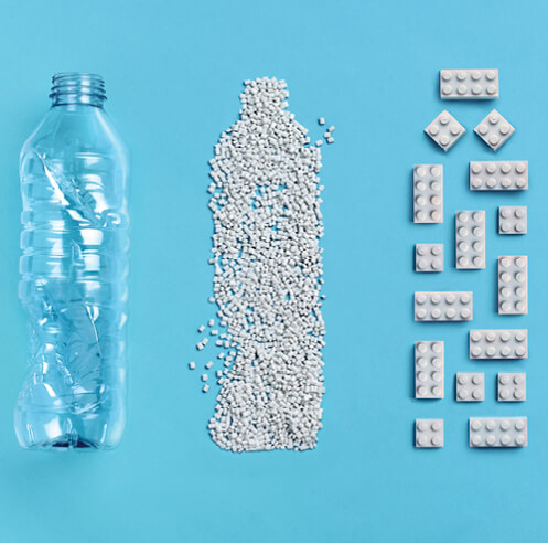 LEGO Group's new recycled plastic brick prototypes spell green for the toy company
