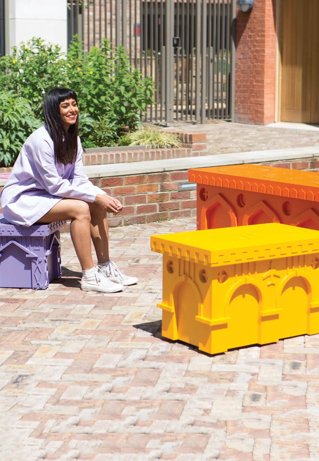 Monuments to Mingling by Sohanna Srinivasan in collaboration with Joyce and Joyce Joinery and A Small World | London Festival of Architecture 2021 | City Benches | STIRworld