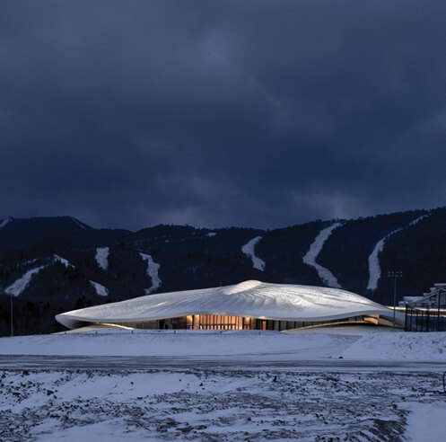 MAD reveals snow white, tent-like form of Yabuli Entrepreneurs' Congress Center