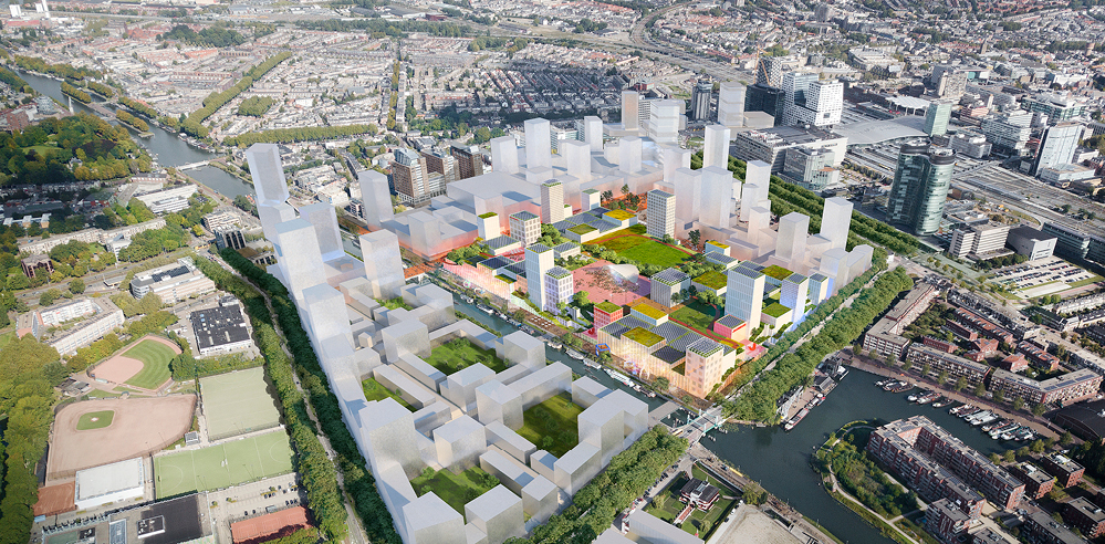 MVRDV envisions green roof-topped Jaarbeurs to become Utrecht's oasis