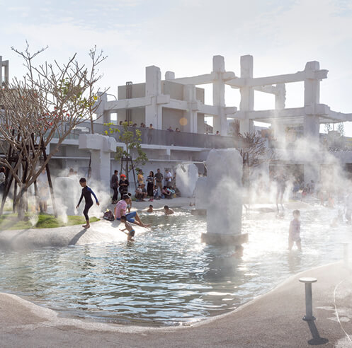 MVRDV's Tainan Spring transforms a vacant historic mall into an 'urban lagoon' in Taiwan
