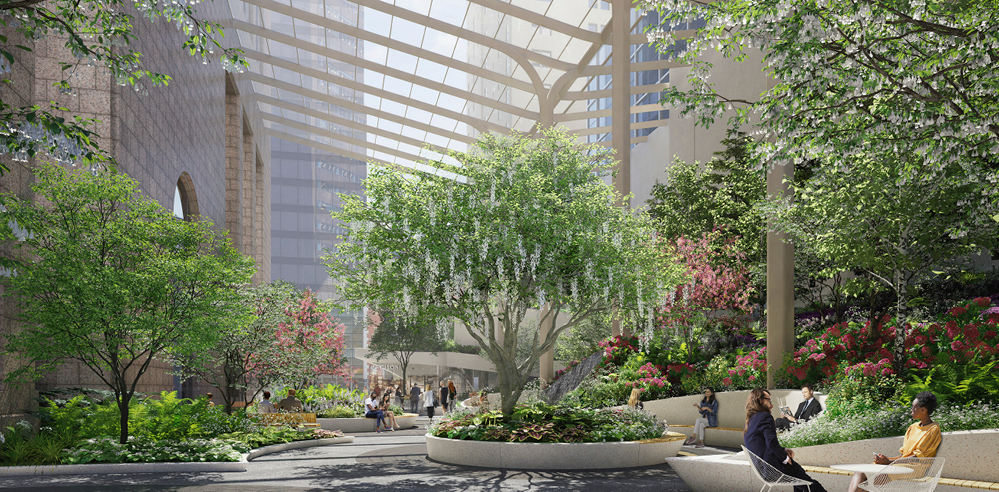 NYC Planning Commision approves Snøhetta's design for 550 Madison garden