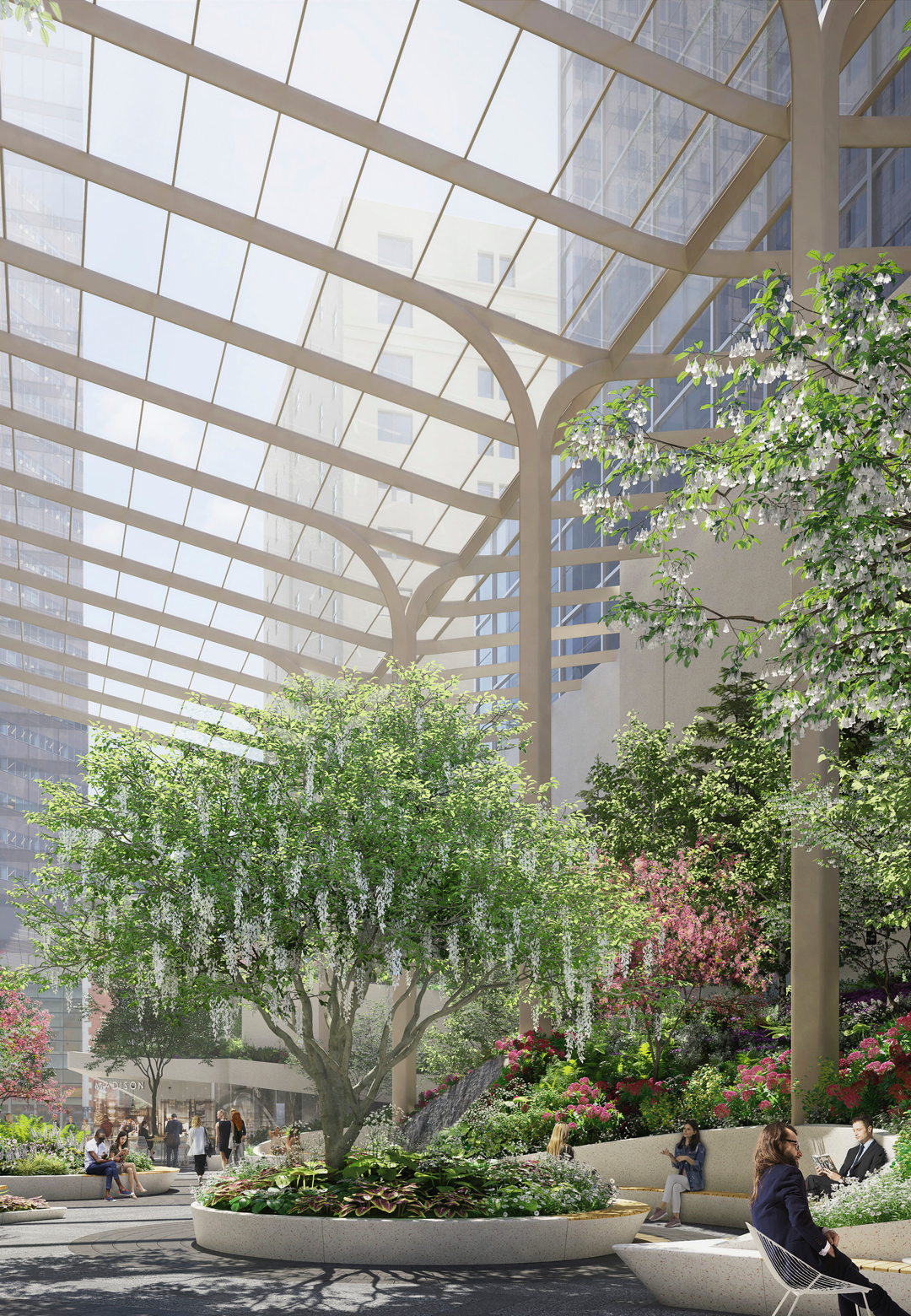 The future garden at 550 Madison in New York, envisioned by Snøhetta | 550 Madison Garden | The Olayan Group | Snøhetta | STIRworld