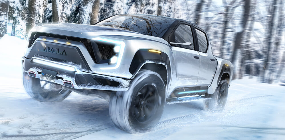 Nikola Badger: 900 HP hydrogen-electric pickup truck with a 600-mile range