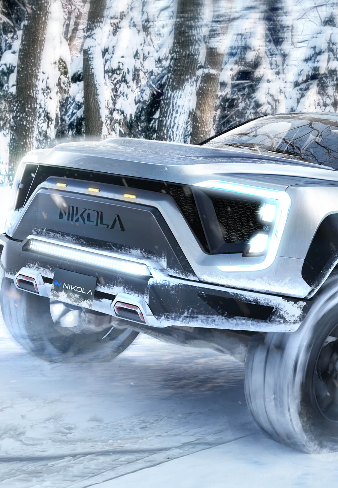 The Nikola Badger is a hydrogen/ electric pickup truck, designed by the Nikola Corporation | Nikola Badger | Nikola Corporation | STIRworld