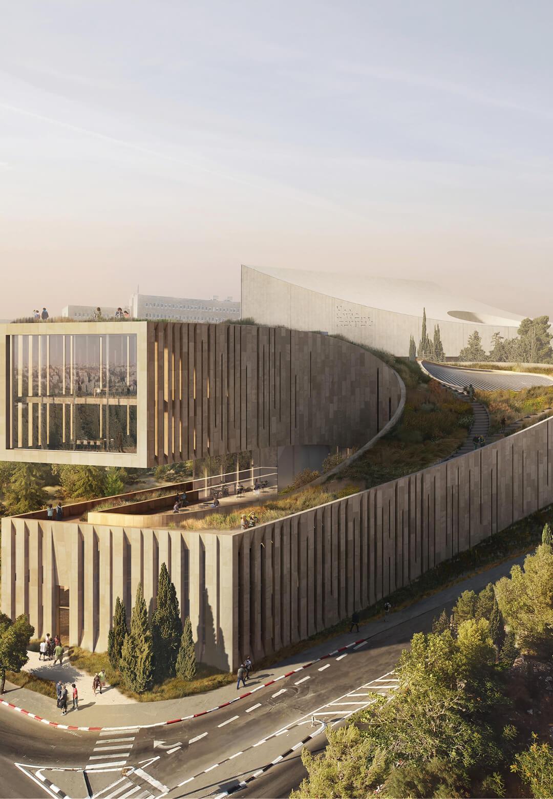 Visualisation of the new headquarters of the Academy of the Hebrew Language   Academy of the Hebrew Language HQ   ODA   STIRworld