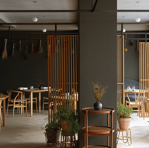 OEO Studio gives a warm makeover to Kadeau restaurant in Copenhagen