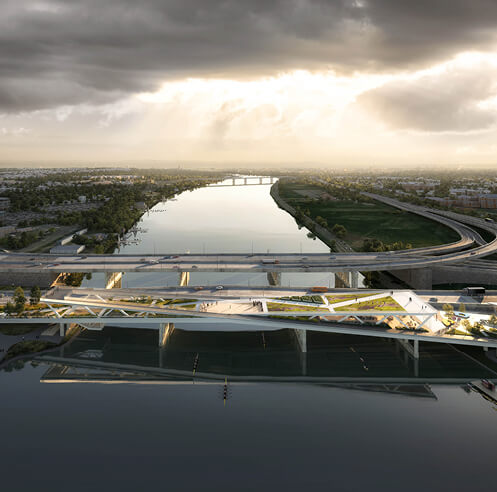 OMA's bridge park above Anacostia River in Washington DC receives planning approval