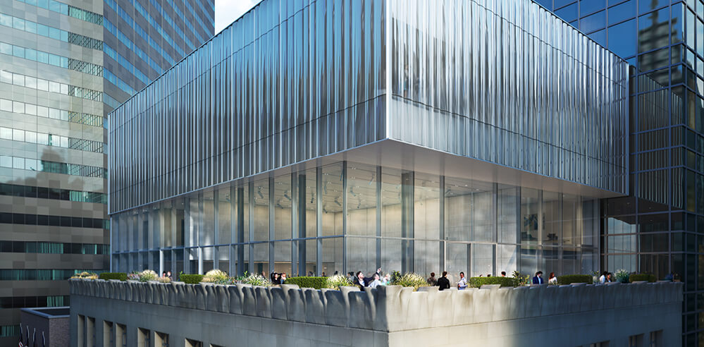 OMA transforms Tiffany & Co's Fifth Avenue flagship with a rooftop glass addition