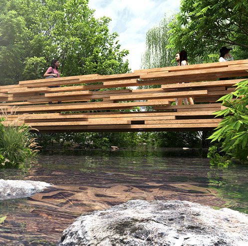 Paul Cocksedge designs an 'exploded bridge' for Design Indaba 2020 in Cape Town