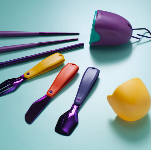 Pentatonic and Pharrell Williams design The Pebble, a mobile, eco-friendly cutlery kit
