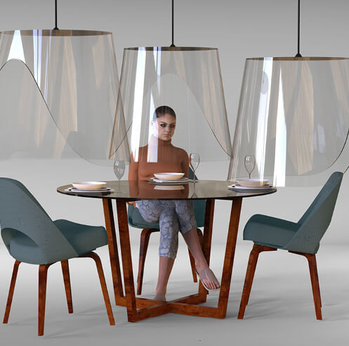 Plex'eat by Christophe Gernigon imagines safe dining for the post-lockdown world