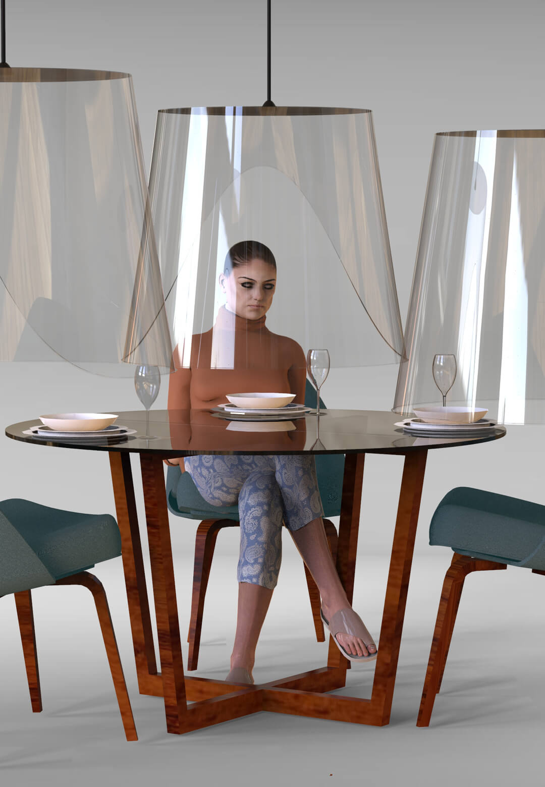 Plex'eat conceptualised by French designer Christophe Gernigon offers a way to dine safely | Plex'eat by Christophe Gernigon Studio | STIRworld