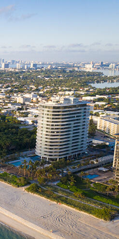 Renzo Piano reveals Eighty Seven Park, a residential luxury tower in Miami, Florida
