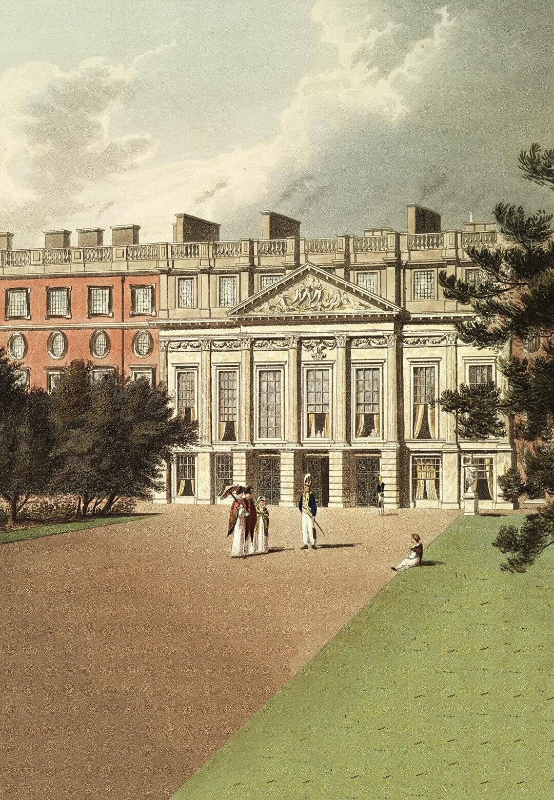 Hampton Court Palace, London the east front 1819 | RIBA & Google Arts & Culture  | UK | STIRworld