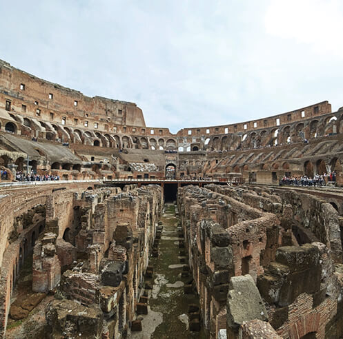Rome announces plans for restoring the Colosseum, with a retractable floor