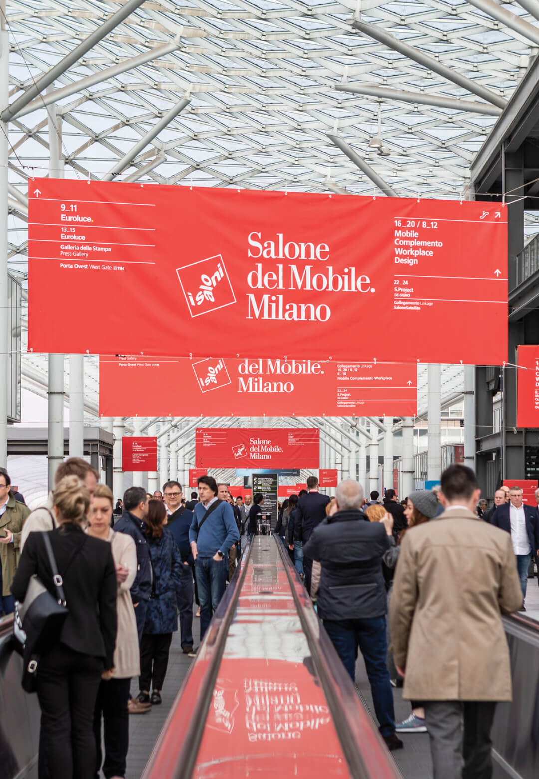 #Flashback: Crowd at the Fiera Milano during Salone del Mobile 2019