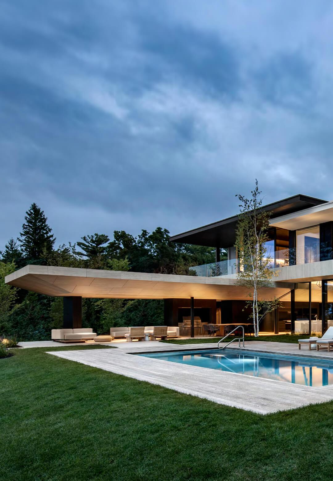 SAOTA designs a modern summer holiday home in Lake Huron, Canada | Lake Huron Residence by SAOTA | STIRworld