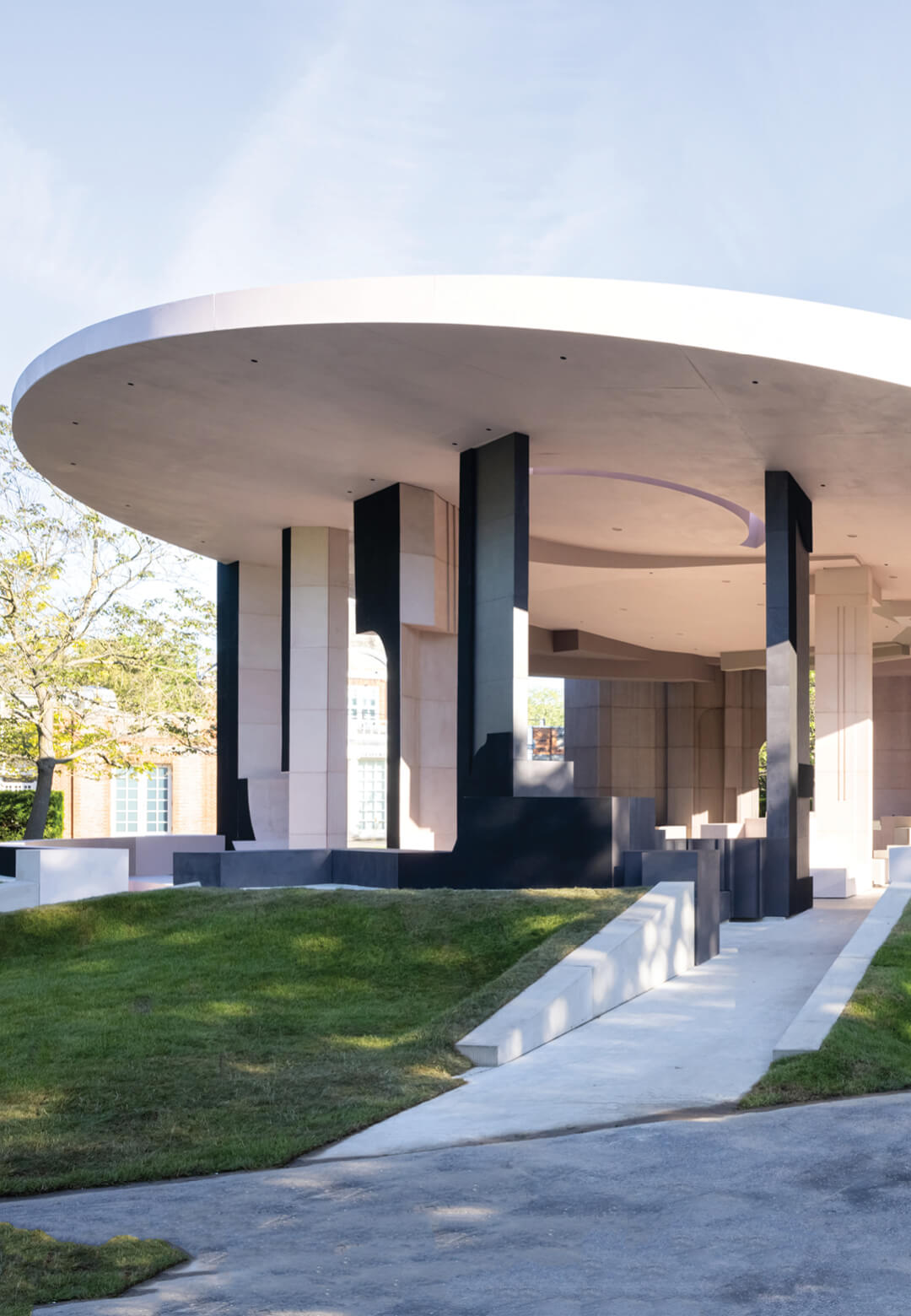 Exterior View: The 2021 Serpentine Pavilion, designed by South African Studio Counterspace, has opened to the public   The 2021 Serpentine Pavilion by Counterspace   STIRworld
