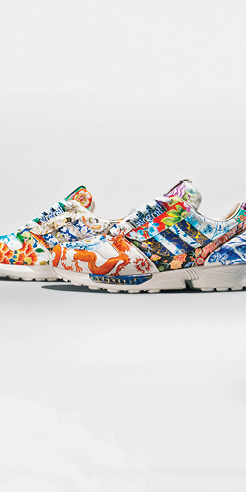 The adidas x Meissen ZX 8000 Porcelain sneakers are a literal work of art