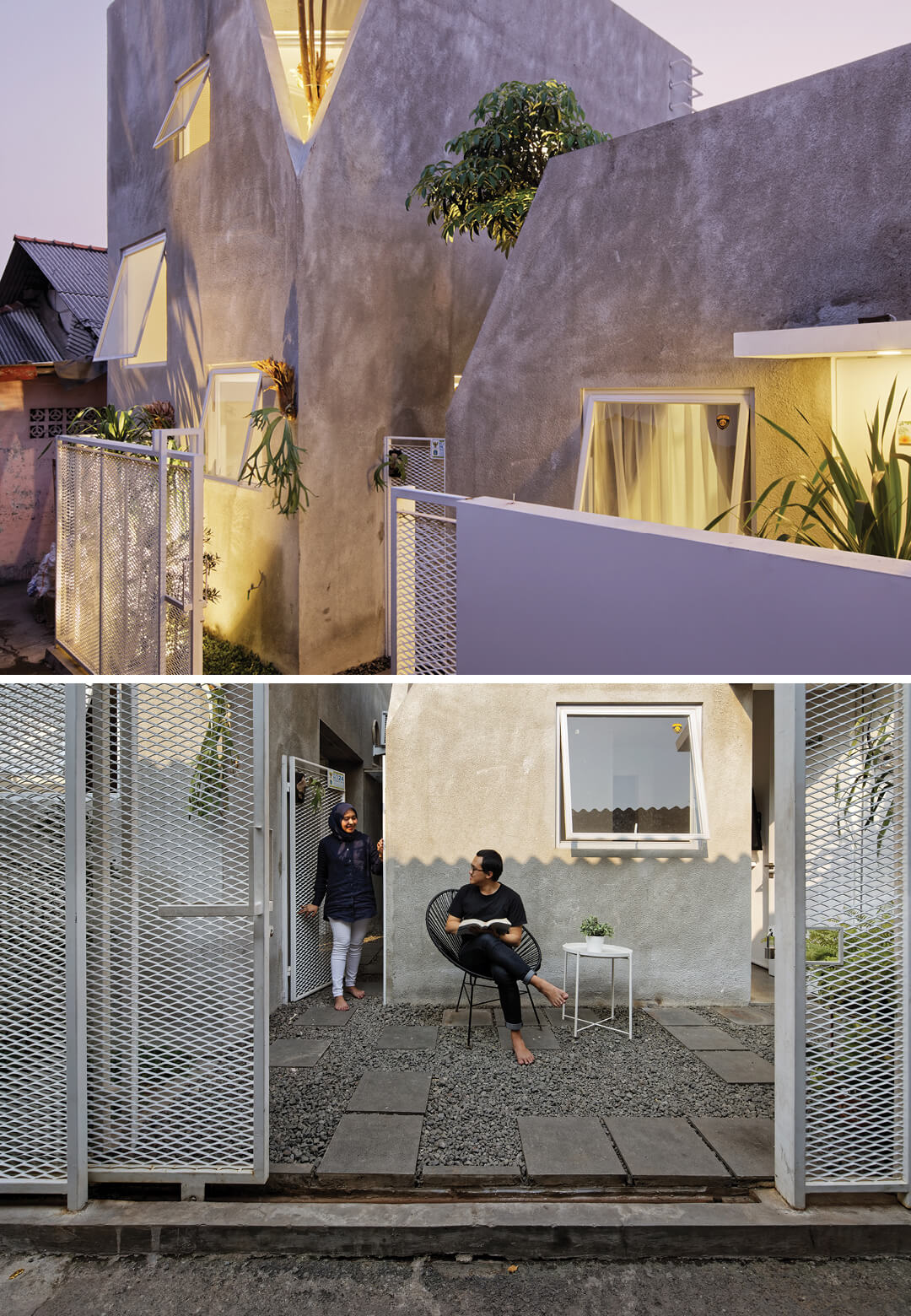 'The Twins' is a dual concrete residence located in a densely populated area in Jakarta | The Twins by DELUTION Architects | STIRworld