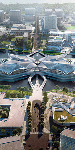 ZHA's new art centre in China is inspired by the flying patterns of migratory birds