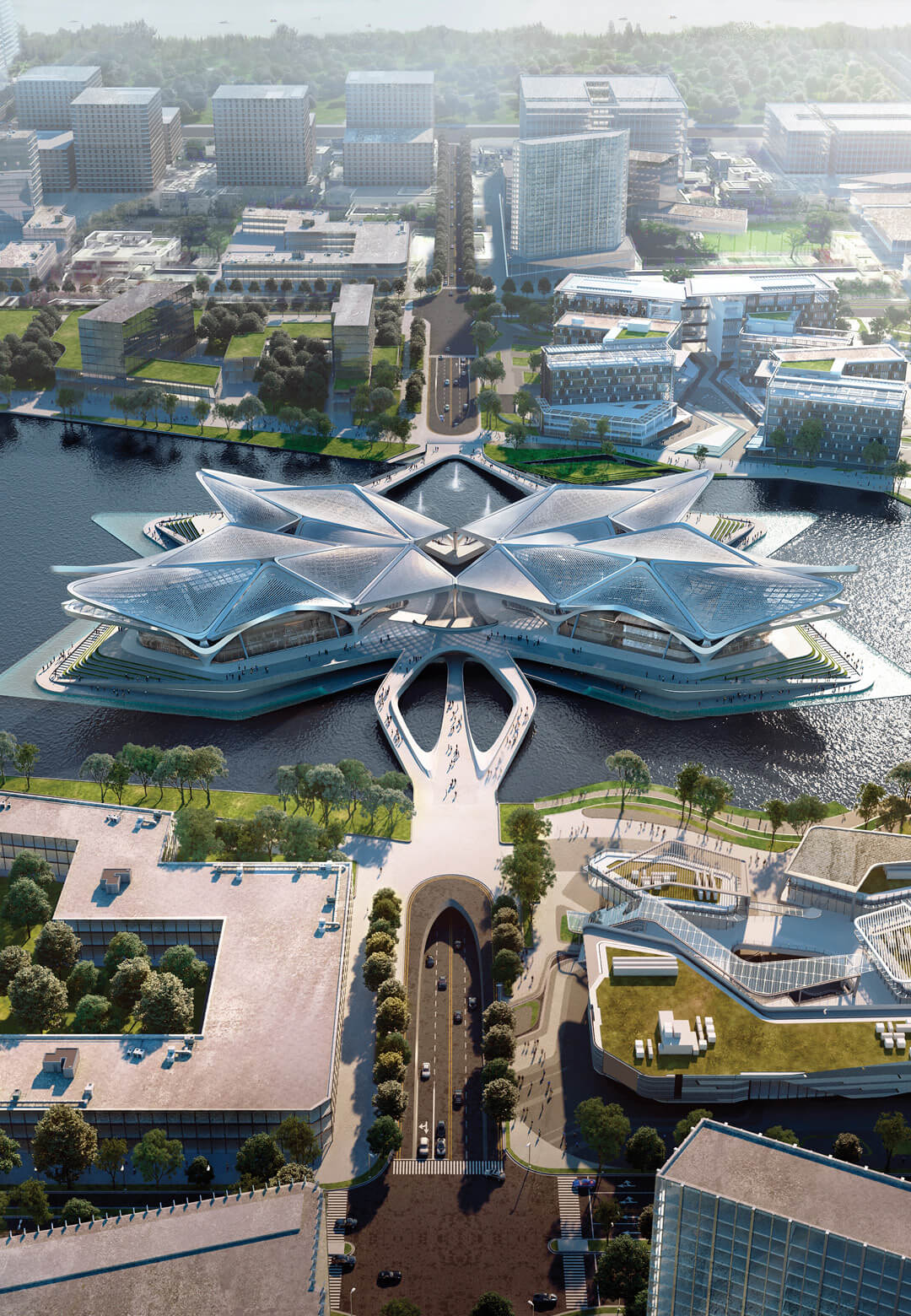 The Zhuhai Jinwan Civic Art Centre | Zhuhai Jinwan Civic Art Centre | Zaha Hadid Architects | STIRworld