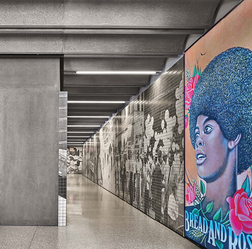 Adjaye Associates capture history through tiled murals at 1199SEIU healthcare union HQ