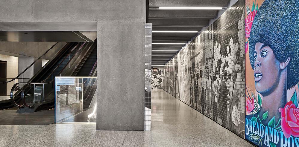 Adjaye Associates capture history through tiled murals at 1199SEIU healthcare union HQ
