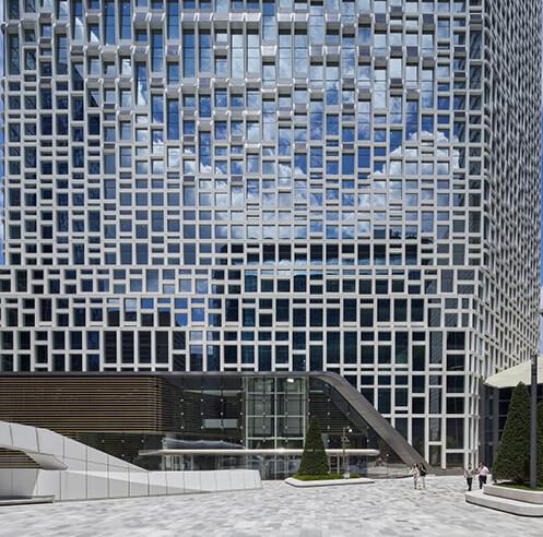 UNStudio finishes retrofitting Hanwha Headquarters tower in Seoul, South Korea