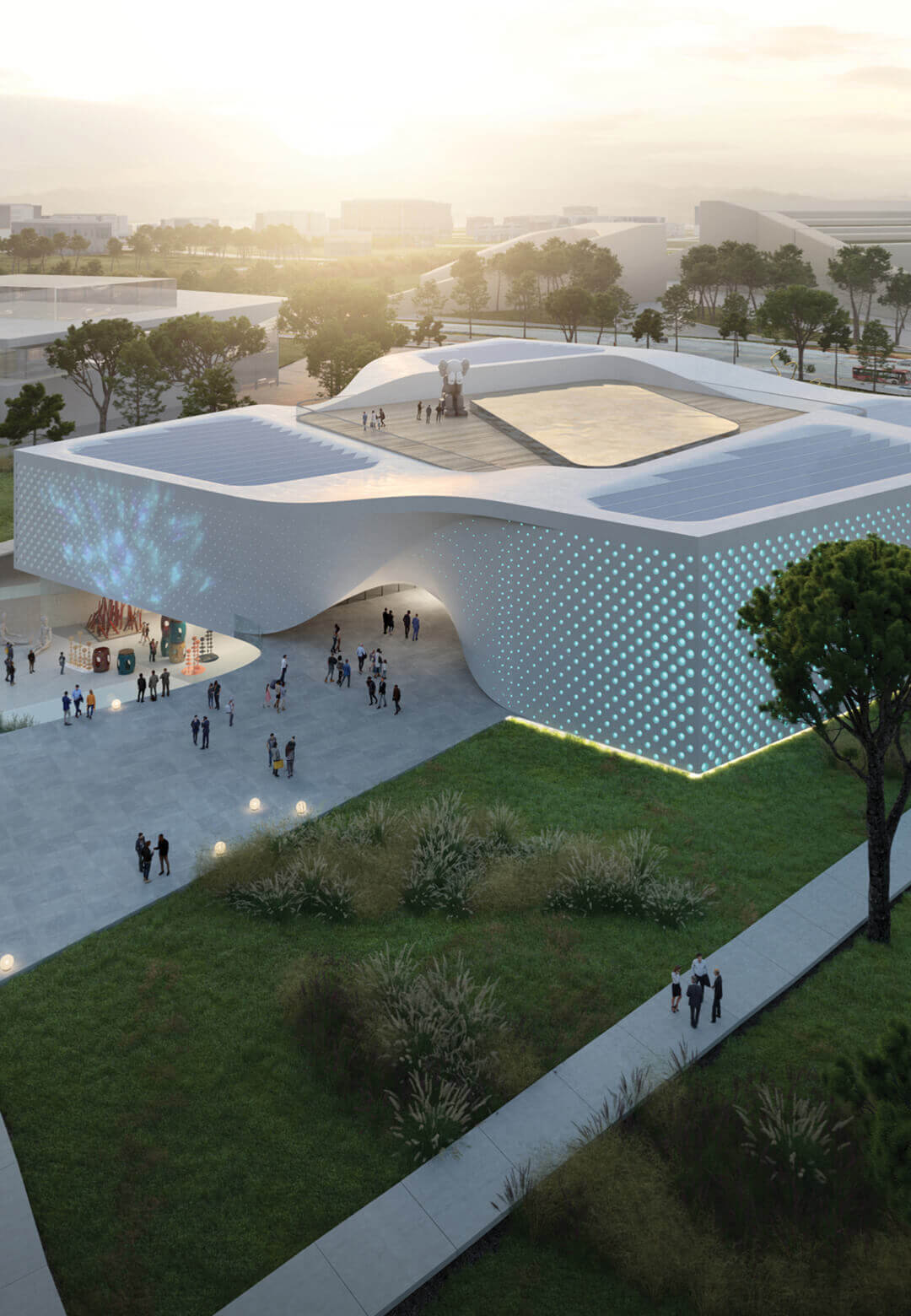 Visualisation of Chungnam Art Museum in South Korea: an immersive and sustainable cultural centre that aims to provide a unique and interactive experience for its users | Chungnam Art Museum | UNStudio | STIRworld