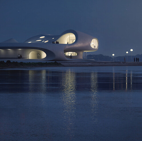Wormhole Library by MAD Architects nears completion in the city of Haikou, China