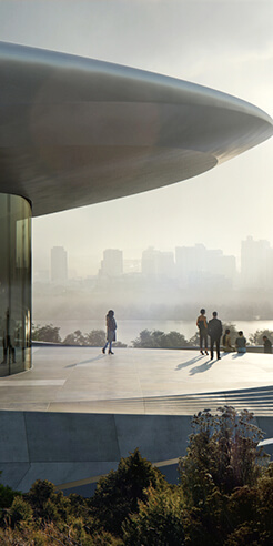 Zaha Hadid Architects reveal first building from Unicorn Island masterplan in China