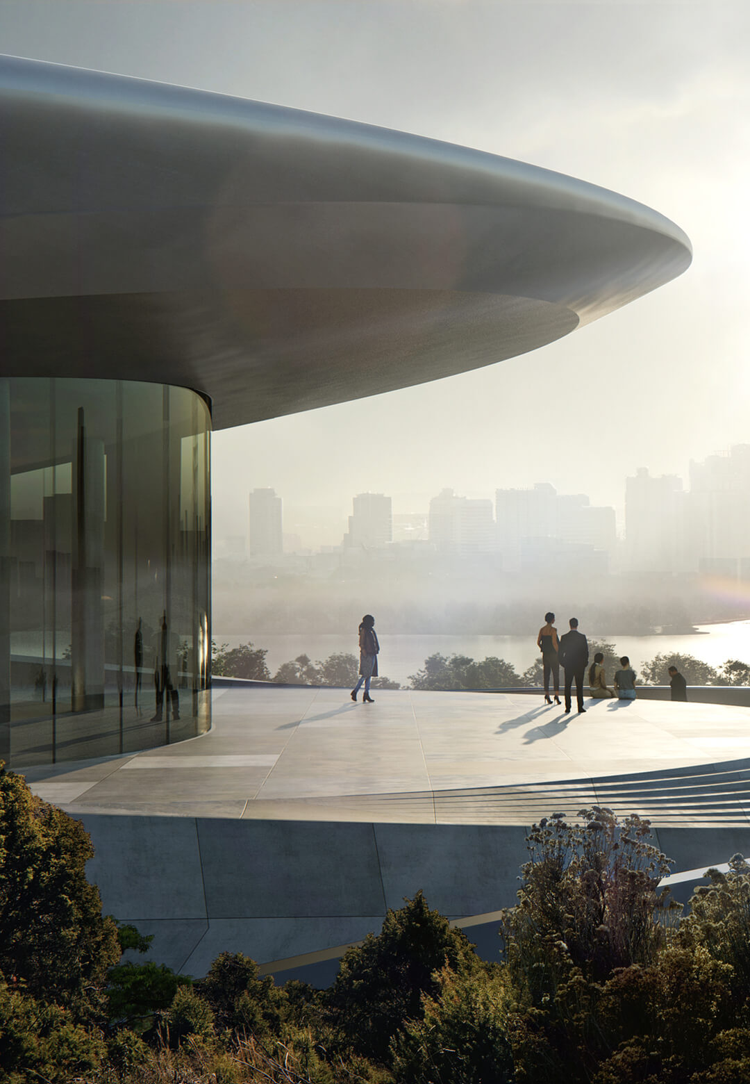 Unicorn Island's first building, the Start-up exhibition and conference center has neared completion in China | Unicorn Island Masterplan| Zaha Hadid Architects | STIRworld