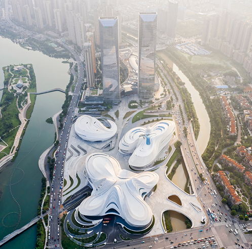 Zaha Hadid Architects' new cultural arts centre, MICA, opens in China