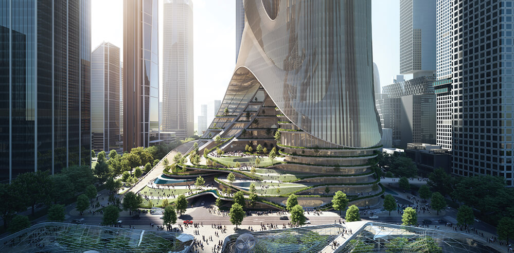 ZHA to energise Shenzhen skyline with column-free twin skyscrapers Tower C