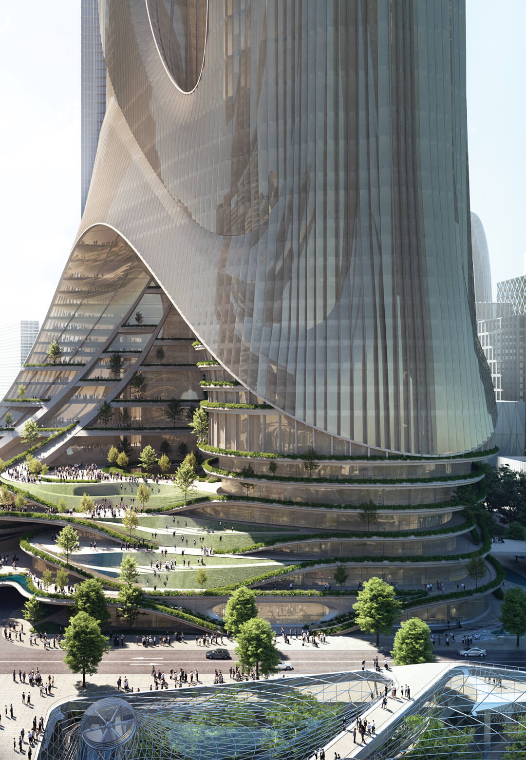 Tower C imagined by Zaha Hadid Architects within the Shenzhen Bay Super Headquarters Base | Tower C by Zaha Hadid Architects within the Shenzhen Bay Super Headquarters Base | STIRworld