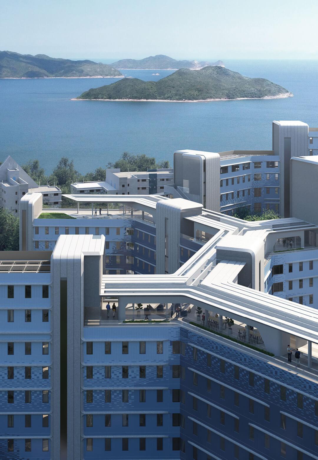 Roofline at the New halls of residence  |New halls of residence designed by Zaha Hadid Architects | STIRworld