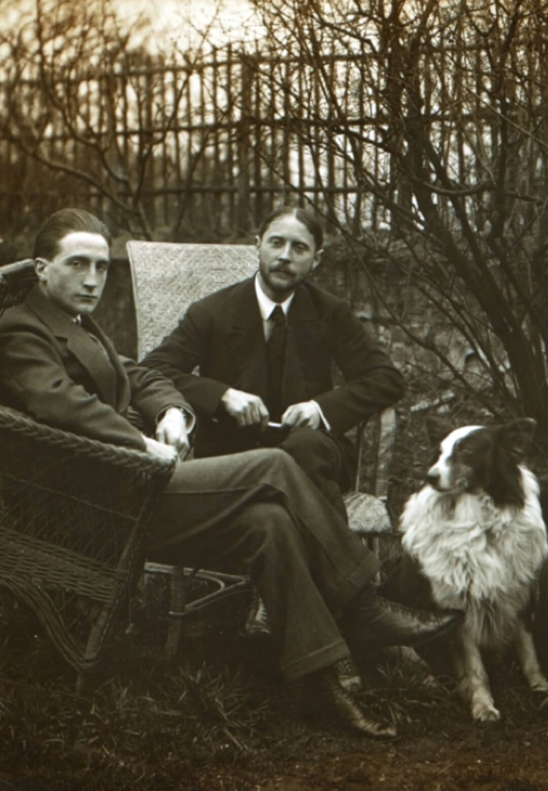 Marcel Duchamp with his brothers, Jacques Villion and Raymond Duchamp-Villion, in the garden of Villion's studio in Putteaux, France | Marcel Duchamp: The Art of the Possible| STIRworld