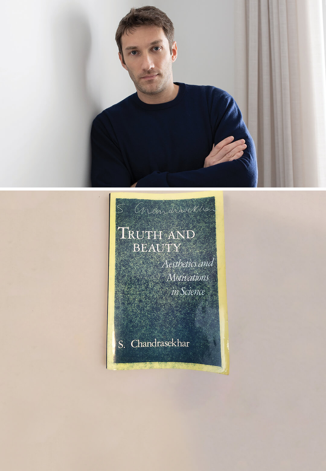 Philipp Aduatz (left) is engrossed in reading Truth and Beauty - Aesthetics and Motivations in Science by Subrahmanyan Chandrasekhar   What am I Reading: Philipp Aduatz   Truth and Beauty - Aesthetics and Motivations in Science   STIRworld
