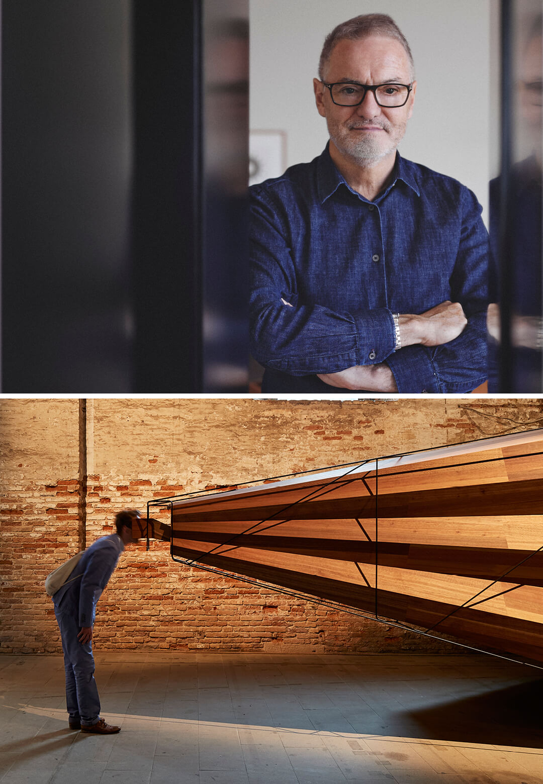Left: 'Somewhere Other' - John Wardle Architects' installation at the Arsenale Exhibition for the 2018 Biennale Architettura, Venice; Right: John Wardle | Somewhere Other | John Wardle Architects | STIRworld