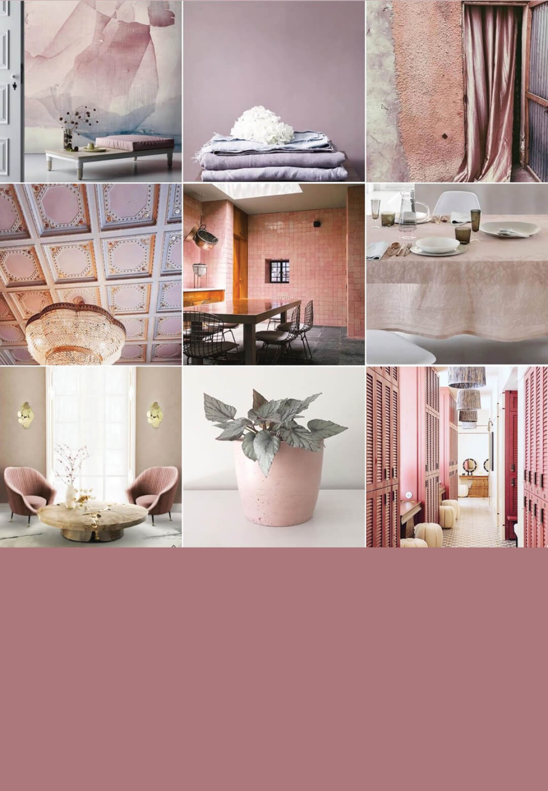 A soft pink mood board inspiration – the colour that represents compassion and love   Colour Chronicles by Michelle Ogundehin   STIRworld