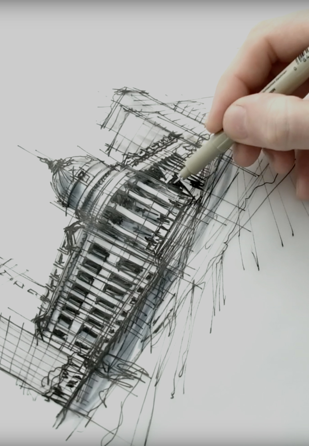 Sketching the Hibernia Building, San Francisco | Dan Hogman | STIRworld