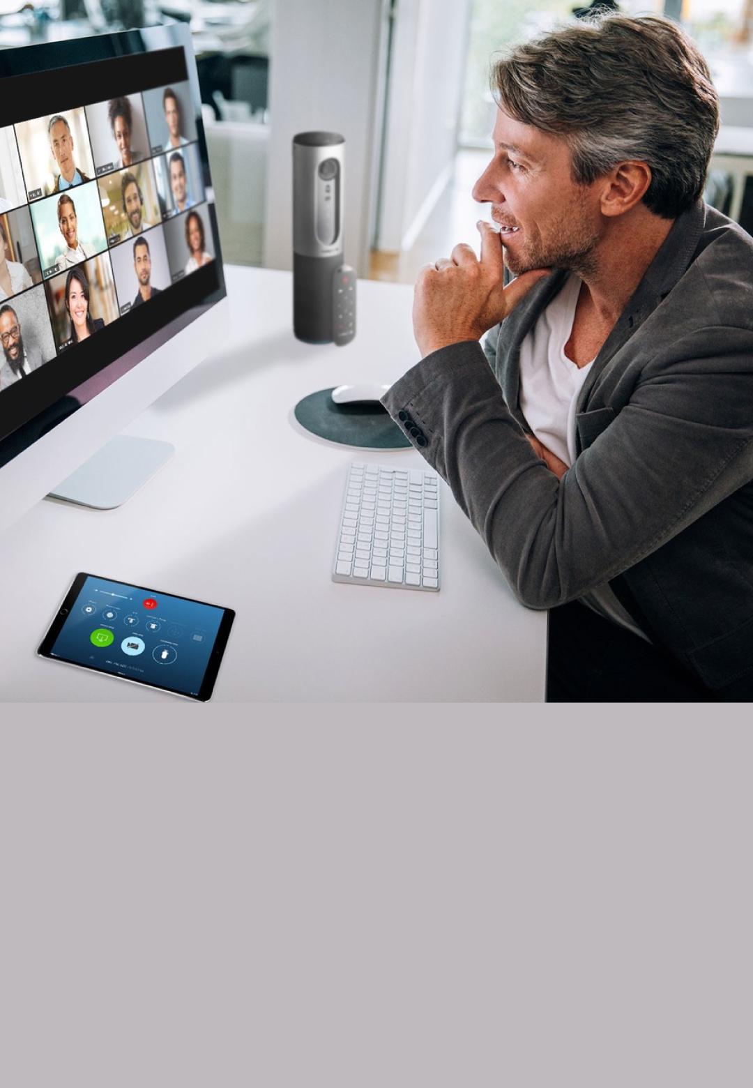 A man attending an online conference call | Digital Legacies: Conversations | STIRworld