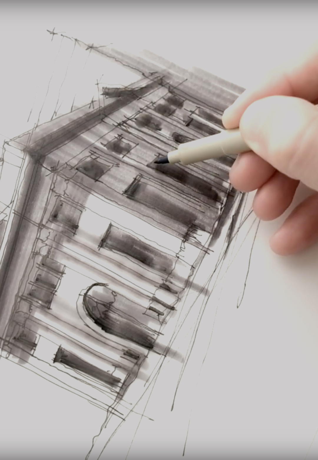 Sketching the Farmers and Merchants Bank, Los Angeles | Dan Hogman | STIRworld